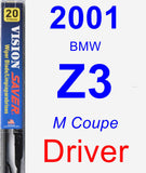 Driver Wiper Blade for 2001 BMW Z3 - Vision Saver