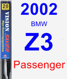 Passenger Wiper Blade for 2002 BMW Z3 - Vision Saver