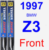 Front Wiper Blade Pack for 1997 BMW Z3 - Vision Saver