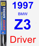 Driver Wiper Blade for 1997 BMW Z3 - Vision Saver