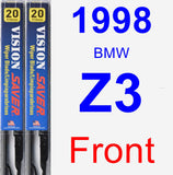 Front Wiper Blade Pack for 1998 BMW Z3 - Vision Saver