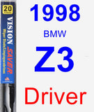 Driver Wiper Blade for 1998 BMW Z3 - Vision Saver