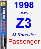 Passenger Wiper Blade for 1998 BMW Z3 - Vision Saver