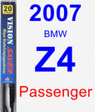 Passenger Wiper Blade for 2007 BMW Z4 - Vision Saver