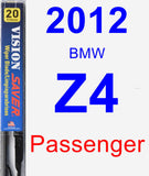 Passenger Wiper Blade for 2012 BMW Z4 - Vision Saver