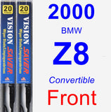 Front Wiper Blade Pack for 2000 BMW Z8 - Vision Saver