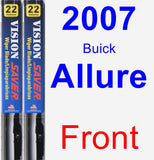 Front Wiper Blade Pack for 2007 Buick Allure - Vision Saver