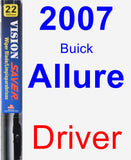 Driver Wiper Blade for 2007 Buick Allure - Vision Saver