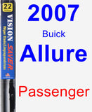 Passenger Wiper Blade for 2007 Buick Allure - Vision Saver