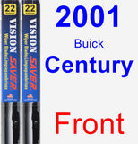 Front Wiper Blade Pack for 2001 Buick Century - Vision Saver