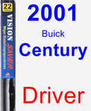 Driver Wiper Blade for 2001 Buick Century - Vision Saver