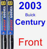 Front Wiper Blade Pack for 2003 Buick Century - Vision Saver