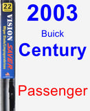 Passenger Wiper Blade for 2003 Buick Century - Vision Saver