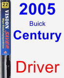 Driver Wiper Blade for 2005 Buick Century - Vision Saver