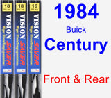 Front & Rear Wiper Blade Pack for 1984 Buick Century - Vision Saver