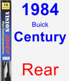 Rear Wiper Blade for 1984 Buick Century - Vision Saver