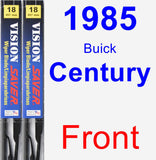 Front Wiper Blade Pack for 1985 Buick Century - Vision Saver