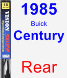 Rear Wiper Blade for 1985 Buick Century - Vision Saver