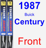 Front Wiper Blade Pack for 1987 Buick Century - Vision Saver