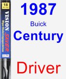 Driver Wiper Blade for 1987 Buick Century - Vision Saver