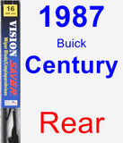 Rear Wiper Blade for 1987 Buick Century - Vision Saver