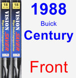 Front Wiper Blade Pack for 1988 Buick Century - Vision Saver