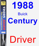 Driver Wiper Blade for 1988 Buick Century - Vision Saver