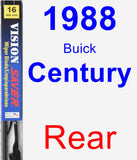 Rear Wiper Blade for 1988 Buick Century - Vision Saver