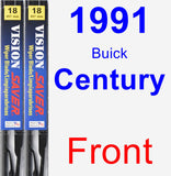 Front Wiper Blade Pack for 1991 Buick Century - Vision Saver