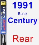 Rear Wiper Blade for 1991 Buick Century - Vision Saver