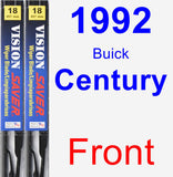 Front Wiper Blade Pack for 1992 Buick Century - Vision Saver