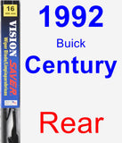 Rear Wiper Blade for 1992 Buick Century - Vision Saver