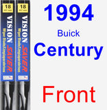 Front Wiper Blade Pack for 1994 Buick Century - Vision Saver