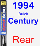 Rear Wiper Blade for 1994 Buick Century - Vision Saver