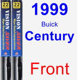 Front Wiper Blade Pack for 1999 Buick Century - Vision Saver