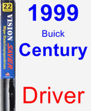Driver Wiper Blade for 1999 Buick Century - Vision Saver