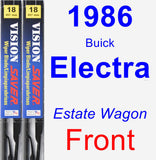Front Wiper Blade Pack for 1986 Buick Electra - Vision Saver