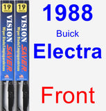 Front Wiper Blade Pack for 1988 Buick Electra - Vision Saver