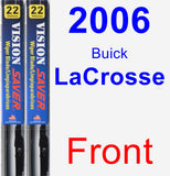 Front Wiper Blade Pack for 2006 Buick LaCrosse - Vision Saver