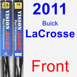 Front Wiper Blade Pack for 2011 Buick LaCrosse - Vision Saver