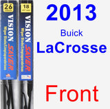 Front Wiper Blade Pack for 2013 Buick LaCrosse - Vision Saver