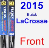 Front Wiper Blade Pack for 2015 Buick LaCrosse - Vision Saver