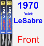Front Wiper Blade Pack for 1970 Buick LeSabre - Vision Saver