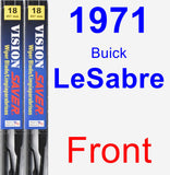 Front Wiper Blade Pack for 1971 Buick LeSabre - Vision Saver