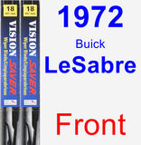 Front Wiper Blade Pack for 1972 Buick LeSabre - Vision Saver