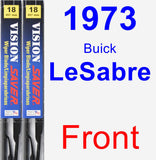 Front Wiper Blade Pack for 1973 Buick LeSabre - Vision Saver