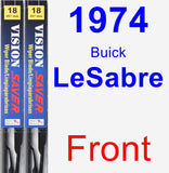 Front Wiper Blade Pack for 1974 Buick LeSabre - Vision Saver