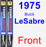 Front Wiper Blade Pack for 1975 Buick LeSabre - Vision Saver