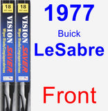 Front Wiper Blade Pack for 1977 Buick LeSabre - Vision Saver
