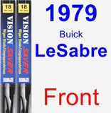 Front Wiper Blade Pack for 1979 Buick LeSabre - Vision Saver